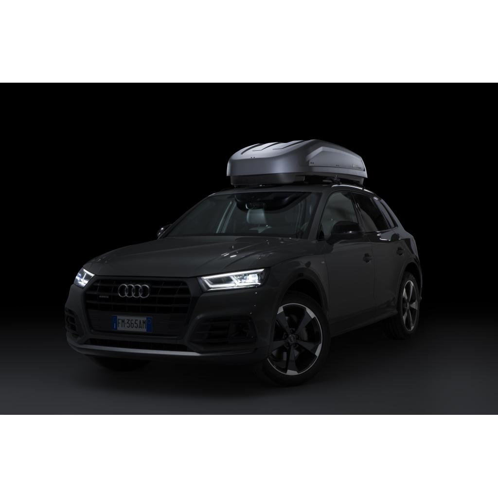 Μπαγκαζιέρα Οροφής Αυτοκινήτου Modula Evo Anthracite 400 lt Χρώμα Ανθρακί - Διπλό Άνοιγμα