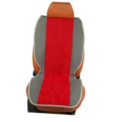 Πλατοκαθίσματα Αυτοκινήτου από Ύφασμα Alcantara Χρώματος Κόκκινο-Γκρί Τεμάχια Δύο