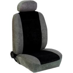 Πλήρες Σετ Καλύμματα Καθισμάτων Αυτoκινήτου από Ύφασμα Alcantara A'  Χρώματος Μαύρο-Γκρί