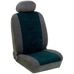 Πλήρες Σετ Καλύμματα Καθισμάτων Αυτoκινήτου από Ύφασμα Alcantara A'  Χρώματος Πράσινο-Γκρί