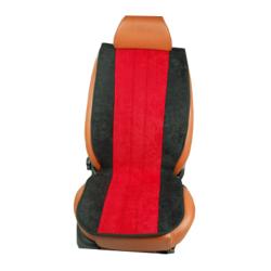 Πλατοκαθίσματα Αυτοκινήτου από Ύφασμα Alcantara Χρώματος Κόκκινο-Μαύρο Τεμάχια Δύο