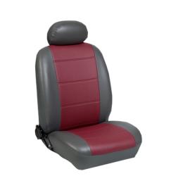 Πλήρες Σετ Καλύμματα Καθισμάτων Αυτοκινήτου από Δερματίνη D Χρώματος Μπορντώ-Ανθρακί
