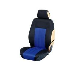 Ημικαλύμματα Εμπρόσθιων Καθισμάτων Αυτοκινήτου από Ύφασμα Αεριζόμενο Τρυπητό R' Χρώματος Μπλέ Ρουά-Μαύρο Τεμάχια Δύο