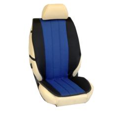Πλατοκαθίσματα Εμπρόσθιων Καθισμάτων Αυτοκινήτου από Ύφασμα Τρυπητό R' Χρώματος Μπλέ-Μαύρο Τεμάχια Δύο