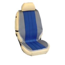 Πλατοκαθίσματα Εμπρόσθιων Καθισμάτων Αυτοκινήτου από Ύφασμα Τρυπητό R' Χρώματος Μπλέ-Γκρί Τεμάχια Δύο