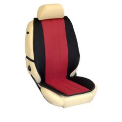 Πλατοκαθίσματα Εμπρόσθιων Καθισμάτων Αυτοκινήτου από Ύφασμα Τρυπητό R' Χρώματος Κόκκινο-Μαύρο Τεμάχια Δύο