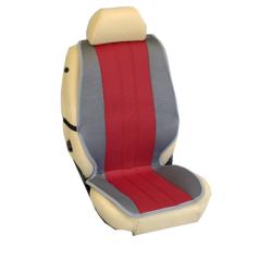 Πλατοκαθίσματα Εμπρόσθιων Καθισμάτων Αυτοκινήτου από Ύφασμα Τρυπητό R' Χρώματος Κόκκινο-Γκρί Τεμάχια Δύο