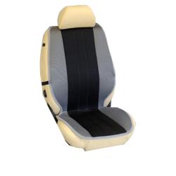 Πλατοκαθίσματα Εμπρόσθιων Καθισμάτων Αυτοκινήτου από Ύφασμα Τρυπητό R' Χρώματος Μαύρο-Γκρί Τεμάχια Δύο