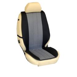 Πλατοκαθίσματα Εμπρόσθιων Καθισμάτων Αυτοκινήτου από Ύφασμα Τρυπητό R' Χρώματος Γκρί-Μαύρο Τεμάχια Δύο
