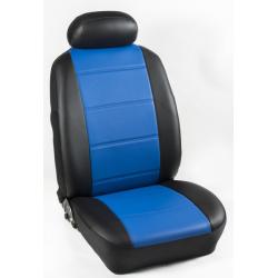 Πλήρες Σετ Καλύμματα Καθισμάτων Αυτοκινήτου από Ενισχυμένη Δερματίνη Χ'  Χρώματος Μπλέ-Μαύρο