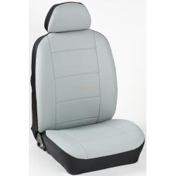 Πλήρες Σετ Καλύμματα Καθισμάτων Αυτοκινήτου από Ενισχυμένη Δερματίνη Χ' Χρώματος Γκρί του Πάγου