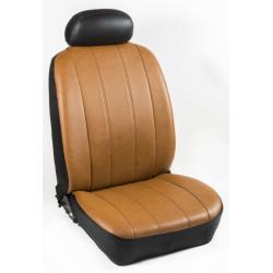 Πλήρες Σετ Καλύμματα Καθισμάτων Αυτοκινήτου από Ενισχυμένη Δερματίνη X'  Χρώματος Ταμπά