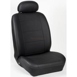 Πλήρες Σετ Καλύμματα Καθισμάτων Αυτοκινήτου από Ενισχυμένη Δερματίνη Χ'  Χρώματος Μαύρο