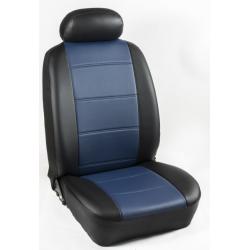 Πλήρες Σετ Καλύμματα Καθισμάτων Αυτοκινήτου από Ενισχυμένη Δερματίνη Χ'' Χρώματος Μπλέ-Μαύρο