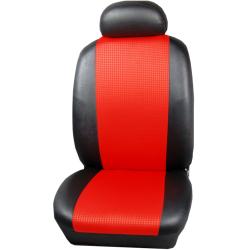 Πλήρες Σετ Καλύμματα Καθισμάτων Αυτοκινήτου από Ύφασμα Σειρά Κ' Χρώματος Κόκκινο-Μαύρο