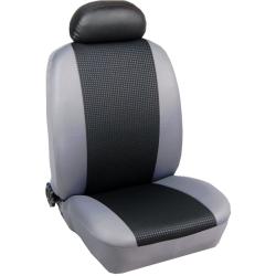 Πλήρες Σετ Καλύμματα Καθισμάτων Αυτοκινήτου από Ύφασμα Σειρά Κ' Χρώματος Μαύρο-Γκρί