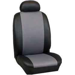 Πλήρες Σετ Καλύμματα Καθισμάτων Αυτοκινήτου από Ύφασμα Σειρά Κ' Χρώματος Γκρί-Μαύρο