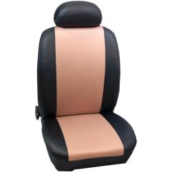Πλήρες Σετ Καλύμματα Καθισμάτων Αυτοκινήτου από Ύφασμα Σειρά Κ' Χρώματος Μπέζ-Μαύρο