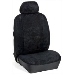 Πλήρες Σετ Καλύμματα Καθισμάτων Αυτoκινήτου από Ύφασμα Alcantara A' Χρώματος Μαύρο
