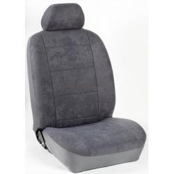 Πλήρες Σετ Καλύμματα Καθισμάτων Αυτοκινήτου από Ύφασμα Alcantara A' Χρώματος Γκρί