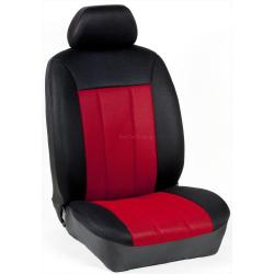Πλήρες Σετ Καλύμματα Καθισμάτων Αυτοκινήτου Τρυπητά Αεριζόμενα R' Χρώματος Κόκκινο-Μαύρο