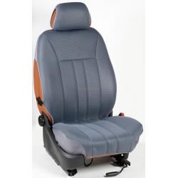 Ημικαλύμματα Εμπρόσθιων Καθισμάτων Αυτοκινήτου από Ύφασμα Αεριζόμενο Τρυπητό R' Χρώματος Γκρί Τεμάχια Δύο