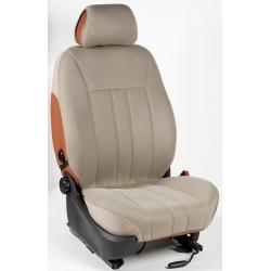Ημικαλύμματα Εμπρόσθιων Καθισμάτων Αυτοκινήτου από Ύφασμα Αεριζόμενο Τρυπητό R' Χρώματος Μπέζ Τεμάχια Δύο