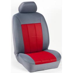 Πλήρες Σετ Καλύμματα Καθισμάτων Αυτοκινήτου Τρυπητά Αεριζόμενα R' Χρώματος Κόκκινο - Γκρί