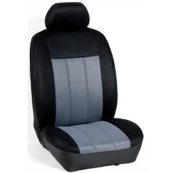 Πλήρες Σετ Καλύμματα Καθισμάτων Αυτοκινήτου Τρυπητά Αεριζόμενα R' Χρώματος Γκρί - Μαύρο