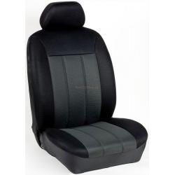 Πλήρες Σετ Καλύμματα Καθισμάτων Αυτοκινήτου Τρυπητά Αεριζόμενα R' Χρώματος Γκρί-Μαύρο