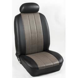 Πλήρες Σετ Καλύμματα Καθισμάτων Αυτοκινήτου από Ενισχυμένη Δερματίνη Χ΄ Χρώματος Ελεφαντί-Μαύρο