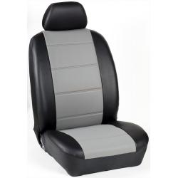Πλήρες Σετ Καλύμματα Καθισμάτων Αυτοκινήτου από Ενισχυμένη Δερματίνη Χ' Χρώματος Γκρί-Μαύρο