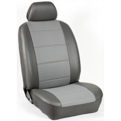 Πλήρες Σετ Καλύμματα Καθισμάτων Αυτοκινήτου από Ενισχυμένη Δερματίνη Χ'' Χρώματος Γκρί-Ανθρακί