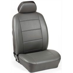 Πλήρες Σετ Καλύμματα Καθισμάτων Αυτοκινήτου από Ενισχυμένη Δερματίνη Χ'  Χρώματος Ανθρακί