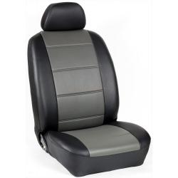 Πλήρες Σετ Καλύμματα Καθισμάτων Αυτοκινήτου από Δερματίνη D Χρώματος Γκρί-Μαύρο