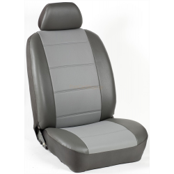 Πλήρες Σετ Καλύμματα Καθισμάτων Αυτοκινήτου από Δερματίνη D Χρώματος Γκρί-Ανθρακί