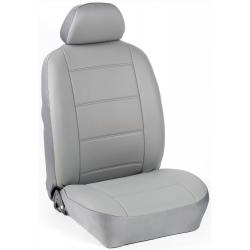 Πλήρες Σετ Καλύμματα Καθισμάτων Αυτοκινήτου από Δερματίνη D Χρώματος  Γκρί του Πάγου