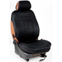 Ημικαλύμματα Εμπρόσθιων Καθισμάτων Αυτοκινήτου από Ύφασμα Αεριζόμενο Τρυπητό R' Χρώματος Μαύρο Τεμάχια Δύο