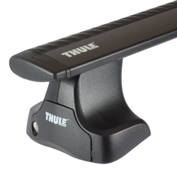 Μπάρες Αλουμινίου Αυτοκινήτου Thule Wing Bar 961 / 118 cm Μαύρες 754 SET ( Kit 1003 / 961 )