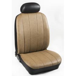 Πλήρες Σετ Καλύμματα Καθισμάτων Αυτοκινήτου από Ενισχυμένη Δερματίνη Χ'  Χρώματος Κάμελ
