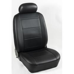 Πλήρες Σετ Καλύμματα Καθισμάτων Αυτοκινήτου από Ενισχυμένη Δερματίνη C' Χρώματος Μαύρο (Look CARBON)