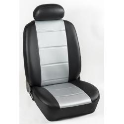 Πλήρες Σετ Καλύμματα Καθισμάτων Αυτοκινήτου από Ενισχυμένη Δερματίνη C' Χρώματος Γκρί-Μαύρο (Look CARBON)