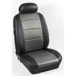 Πλήρες Σετ Καλύμματα Καθισμάτων Αυτοκινήτου από Ενισχυμένη Δερματίνη C' Χρώματος Ανθρακί-Μαύρο (Look CARBON)