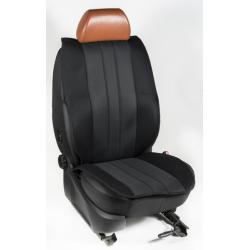 Πλατοκαθίσματα Εμπρόσθιων Καθισμάτων Αυτοκινήτου από Ύφασμα Τρυπητό R' Χρώματος Ανθρακί-Μαύρο Τεμάχια Δύο