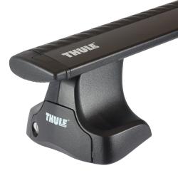 Μπάρες Αλουμινίου Αυτοκινήτου Thule Wing Bar 969 / 127 cm Μαύρες 754 SET ( Kit 1566 / 969 )