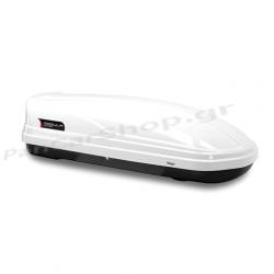 Σέτ Μπάρες Οροφής Hermes GS2 με Μπαγκαζιέρα Modula Wego 450 lt Λευκή για ΙΧ ( Flash Railing )