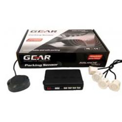 Αισθητήρες Παρκαρίσματος Αυτοκινήτου Gear PS1000W 4 Sensors Χρώμα Λευκό