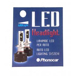 Φώτα Αυτοκινήτου Led Phonocar για Λάμπες H7 6K Κωδ. 07.504