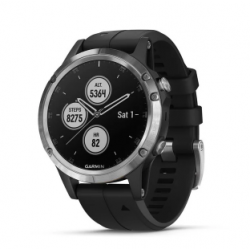 Garmin Fenix 5 Plus Code.GA-010-01988-11 Black Band (Glass Silver)