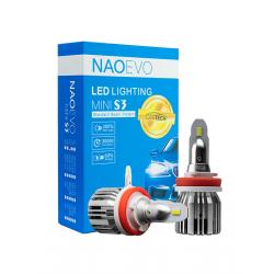 Φώτα Led Naoevo Mini S3 H11 60W 6500K 7200lm 2 Τεμ